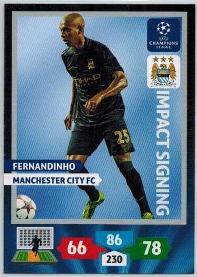Impacts Signings, 2013-14 Adrenalyn Champions League, Fernandinho