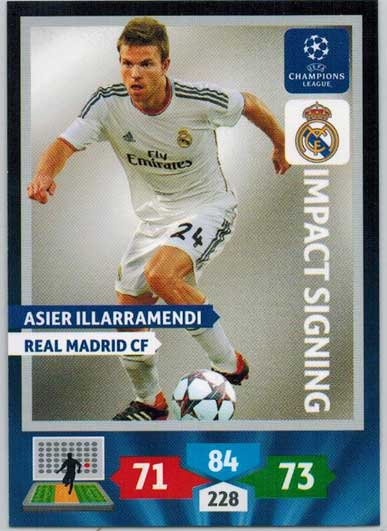Impacts Signings, 2013-14 Adrenalyn Champions League, Asier Illarramendi