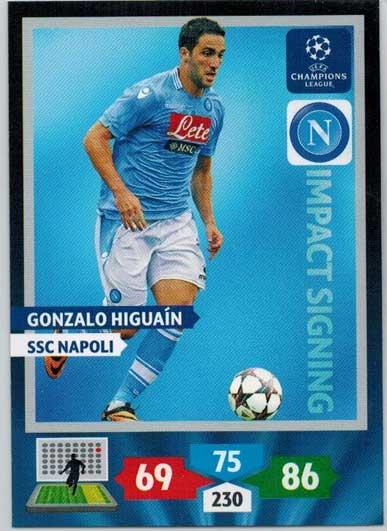 Impacts Signings, 2013-14 Adrenalyn Champions League, Gonzalo Higuain