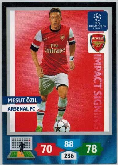 Impacts Signings, 2013-14 Adrenalyn Champions League, Mesut Özil / Mesut Ozil