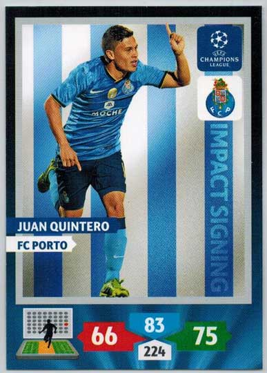 Impacts Signings, 2013-14 Adrenalyn Champions League, Juan Quintero