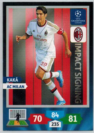 Impacts Signings, 2013-14 Adrenalyn Champions League, Kaka