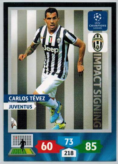 Impacts Signings, 2013-14 Adrenalyn Champions League, Carlos Tevez
