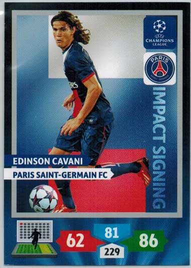 Impacts Signings, 2013-14 Adrenalyn Champions League, Edinson Cavani