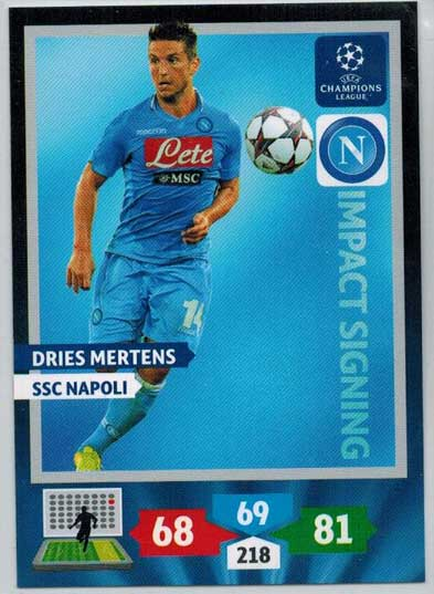Impacts Signings, 2013-14 Adrenalyn Champions League, Dries Mertens