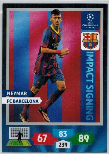 Impacts Signings, 2013-14 Adrenalyn Champions League, Neymar