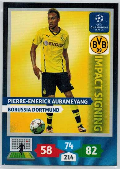 Impacts Signings, 2013-14 Adrenalyn Champions League, Pierre-Emerick Aubameyang