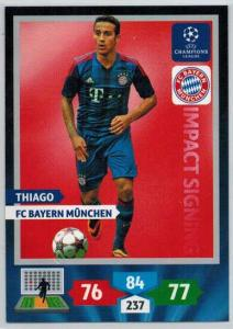 Impacts Signings, 2013-14 Adrenalyn Champions League, Thiago