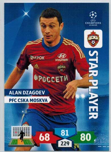 Star Player, 2013-14 Adrenalyn Champions League, Alan Dzagoev