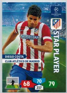 Star Player, 2013-14 Adrenalyn Champions League, Diego Costa