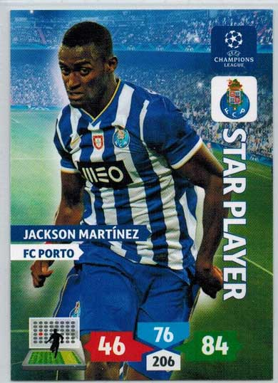 Star Player, 2013-14 Adrenalyn Champions League, Jackson Martinez