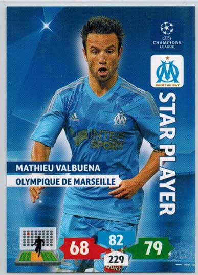 Star Player, 2013-14 Adrenalyn Champions League, Mathieau Valbuena
