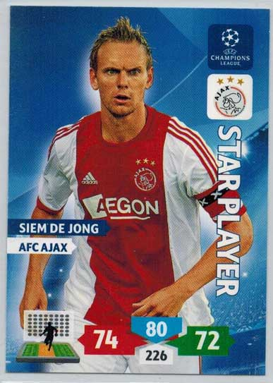 Star Player, 2013-14 Adrenalyn Champions League, Siem De Jong
