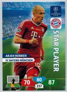 Star Player, 2013-14 Adrenalyn Champions League, Arjen Robben