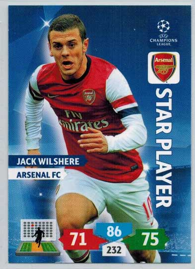 Star Player, 2013-14 Adrenalyn Champions League, Jack Wilshere