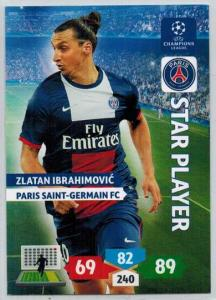 Star Player, 2013-14 Adrenalyn Champions League, Zlatan Ibrahimovic