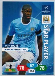 Star Player, 2013-14 Adrenalyn Champions League, Yaya Toure
