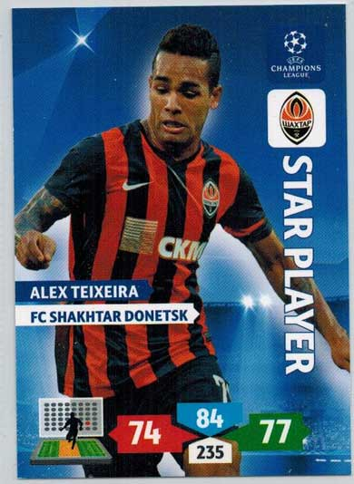 Star Player, 2013-14 Adrenalyn Champions League, Alex Teixeira