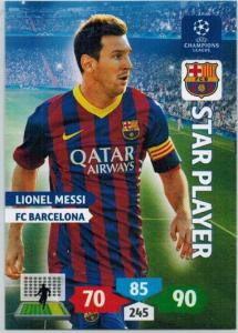 Star Player, 2013-14 Adrenalyn Champions League, Lionel Messi