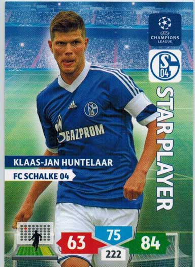 Star Player, 2013-14 Adrenalyn Champions League, Klaas-Jan Huntelaar