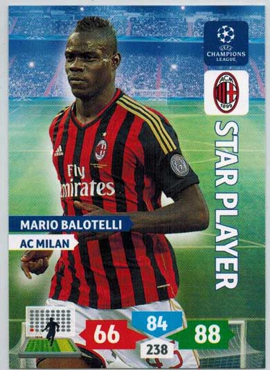 Star Player, 2013-14 Adrenalyn Champions League, Mario Balotelli