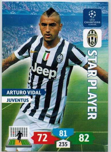 Star Player, 2013-14 Adrenalyn Champions League, Arturo Vidal