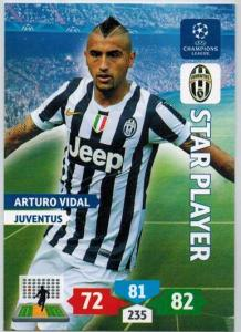 Star Player, 2013-14 Adrenalyn Champions League, Arturo Vidal