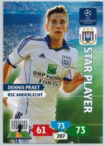 Star Player, 2013-14 Adrenalyn Champions League, Dennis Praet