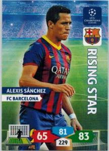 Rising Star, 2013-14 Adrenalyn Champions League, Alexis Sanchez