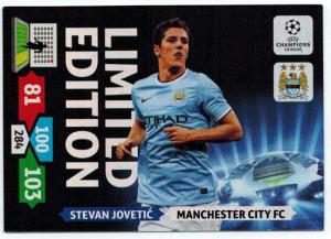 Limited Edition, 2013-14 Adrenalyn Champions League, Stevan Jovetic