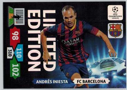 Limited Edition, 2013-14 Adrenalyn Champions League, Andres Iniesta