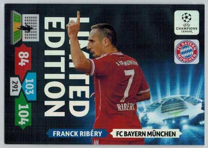 Limited Edition, 2013-14 Adrenalyn Champions League, Franck Ribery