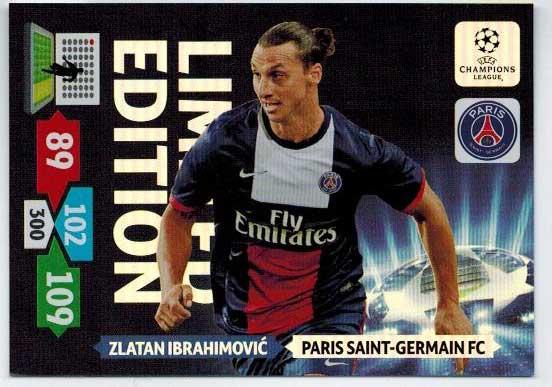 Limited Edition, 2013-14 Adrenalyn Champions League, Zlatan Ibrahimovic