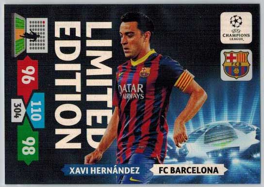 Limited Edition, 2013-14 Adrenalyn Champions League, Xavi Hernandez