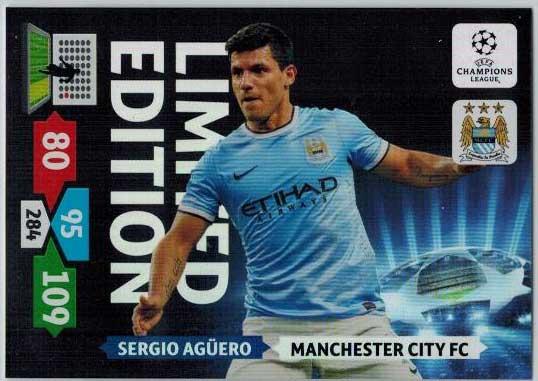 Limited Edition, 2013-14 Adrenalyn Champions League, Sergio Aguero / Sergio Agüero