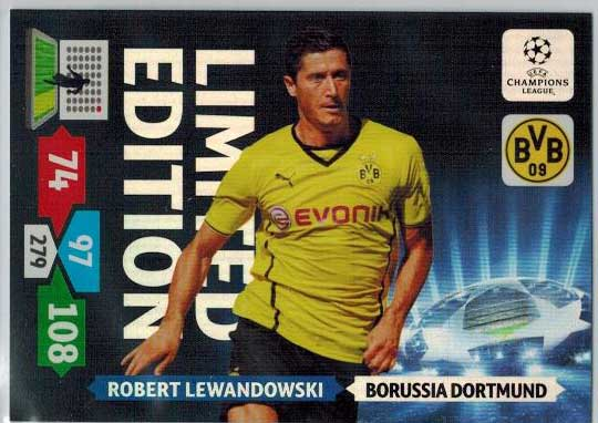 Limited Edition, 2013-14 Adrenalyn Champions League, Robert Lewandowski