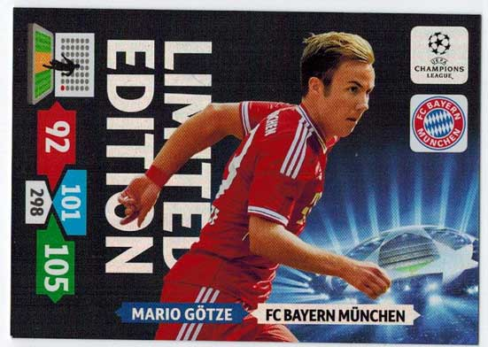 Limited Edition, 2013-14 Adrenalyn Champions League, Mario Götze / Mario Gotze