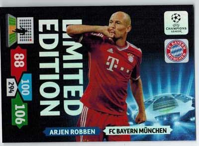 Limited Edition, 2013-14 Adrenalyn Champions League, Arjen Robben