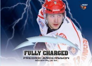 FULLY CHARGED, 2013-14 HockeyAllsvenskan #ALLS-FC09 Fredric Andersson