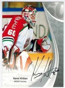 2006-07 SHL Signed by the numbers s.2 #5 Karol Krizan, Modo Hockey /60