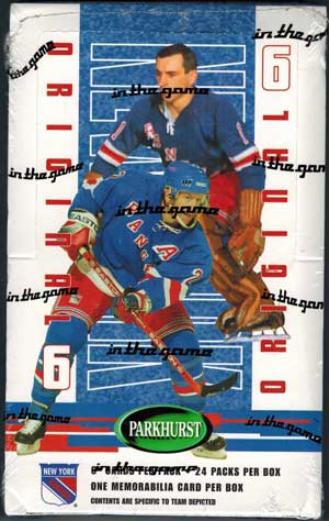Hel Box 2003-04 Be A Player Parkhurst Original 6, New York Rangers