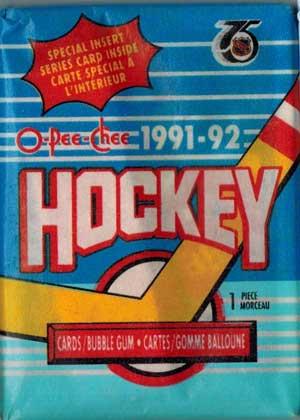 1st Paket 1991-92 O-Pee-Chee