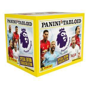 Box (50 paket), Panini Tabloid Stickers Premier League 2018-19 (Klisterbilder)