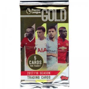 1st Paket 2017-18 Topps Premier Gold Soccer - Premier League
