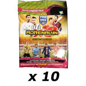 10st Mega Starter Pack Panini Adrenalyn XL FIFA 365 2020-21