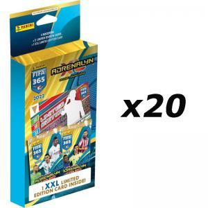 1 Case (20st) XXL Maxi Blister Panini Adrenalyn XL FIFA 365 2021-22