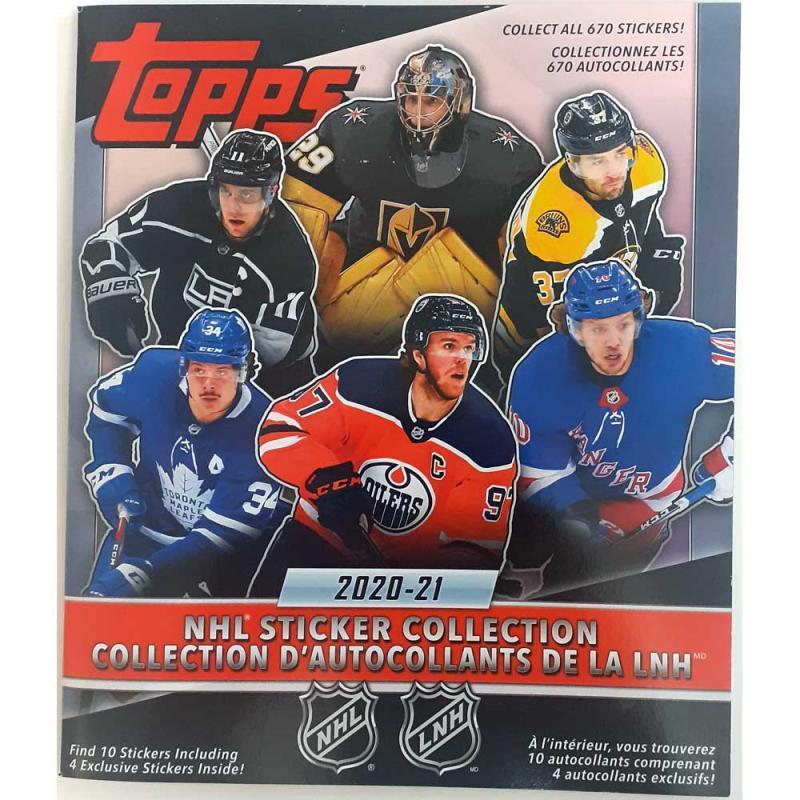 Album 2020-21 Topps NHL Stickers (För klisterbilder)