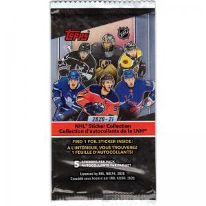 1 Paket 2020-21 Topps NHL Stickers (Klisterbilder)