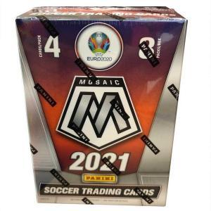 Sealed Blaster Box 2020-21 Panini Mosaic UEFA Euro 2020 Soccer (8 Packs)