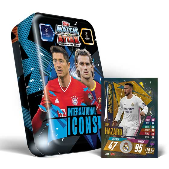 Mega Tin - International Icons - 2020-21 Topps Match Attax (Champions League & Europa League)